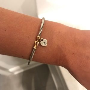 David Yurman cable heart lock bracelet